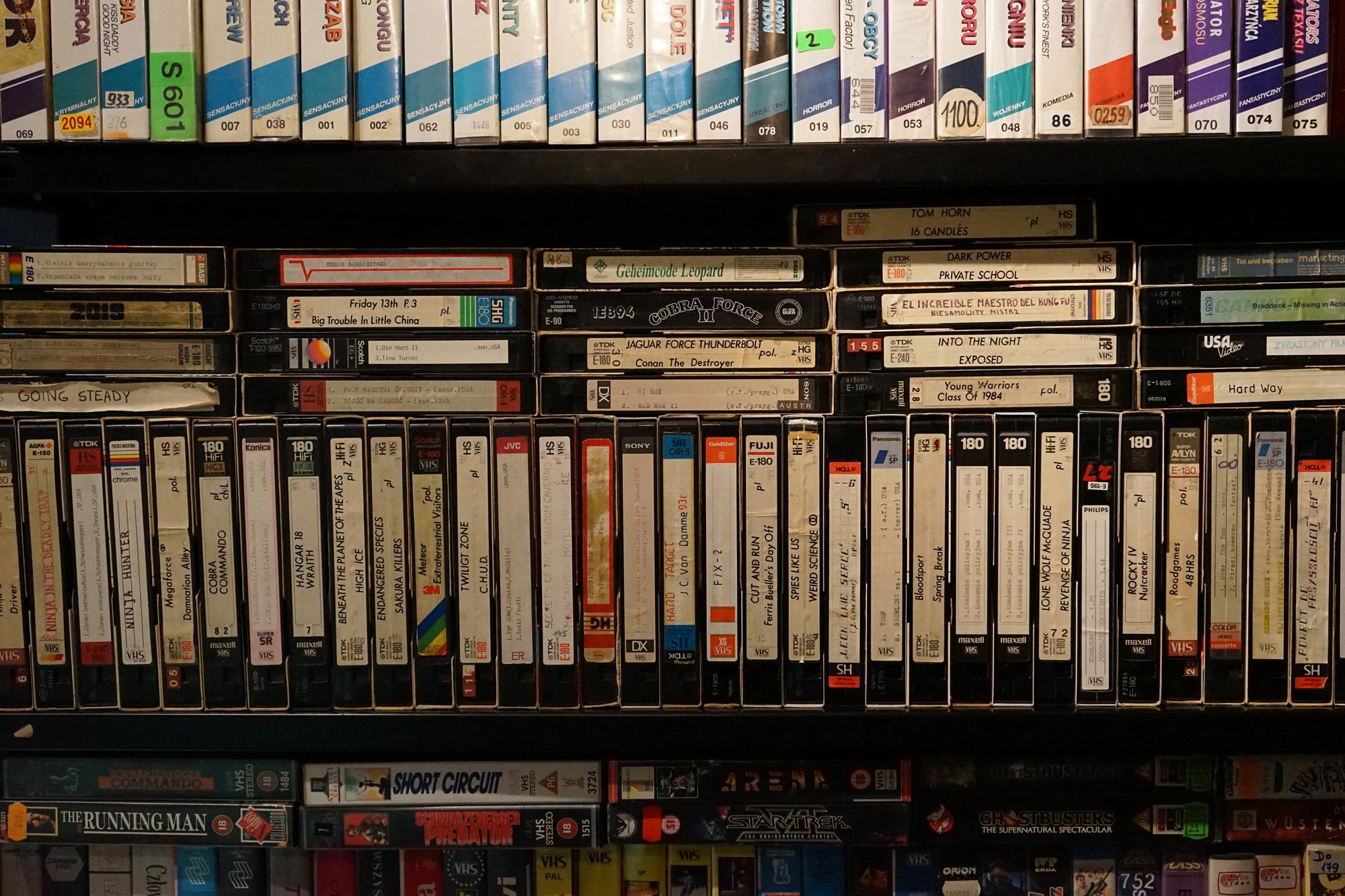 Kolekcja kaset VHS, fot Krystian Kujda