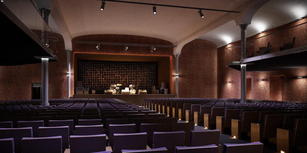 Sala koncertowa w Browarze Wrzeszcz.