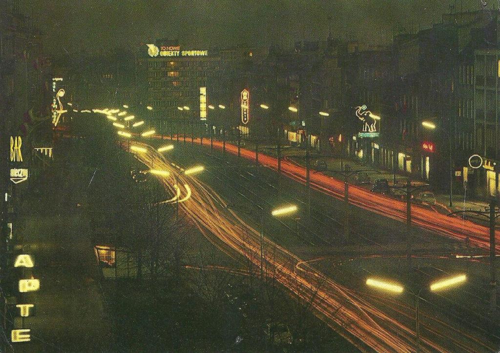 Ulica Grunwaldzka we Wrzeszczu, lata 60. Fot. K. Kamiński / archiwalna pocztówka
